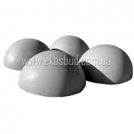 Полусфера бетонная 500-250 мм
