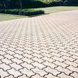 Волна 80 мм Тротуарная плитка вибропрессованная