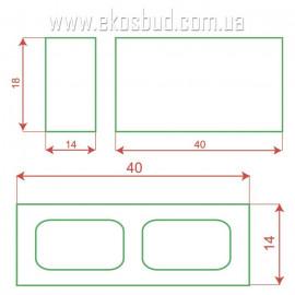 Блок декоративный 398х180х140 (рваный)
