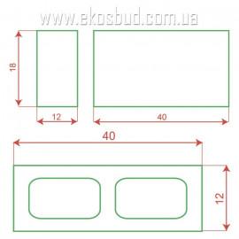 Блок декоративный 398х180х120 (рваный)