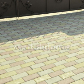 Кирпич 80мм Тротуарная плитка вибропрессованная