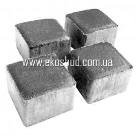 Бетонная брусчатка (кубик) Тротуарная плитка вибропрессованная